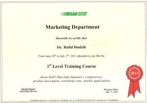 certyfikat marketing